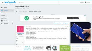 Log onto White screen [Solved] - Trojan - Antivirus / Security ...