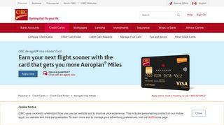 Aerogold Visa Infinite | Credit Cards | CIBC - CIBC.com