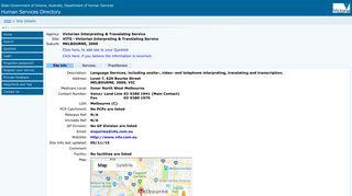 VITS - Victorian Interpreting & Translating Service - HSD - Site Details