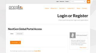 login - ONCALL Interpreters