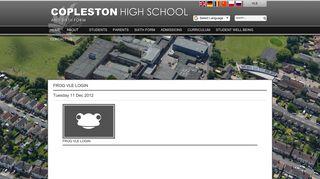 Frog VLE Login - Copleston High School