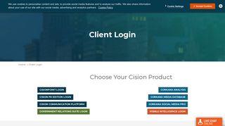Client Login - Cision