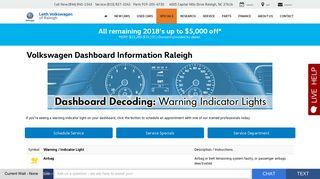 Volkswagen Dashboard - Warning Light Indictator information