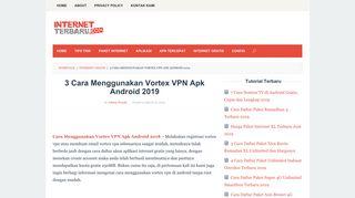 3 Cara Menggunakan Vortex VPN Apk Android 2019