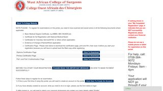 West African College Of Surgeon WACS: Users