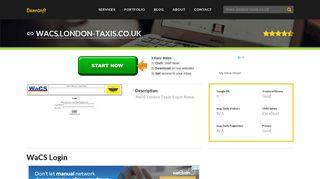 Welcome to Wacs.london-taxis.co.uk - WaCS Login