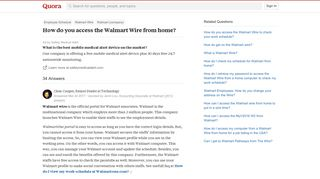 How to access the Walmart Wire from home - Quora