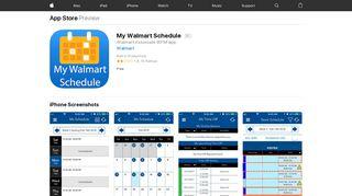 My Walmart Schedule on the App Store - iTunes - Apple