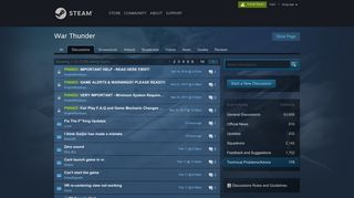 War Thunder Technical Problems/Advice :: Steam Community