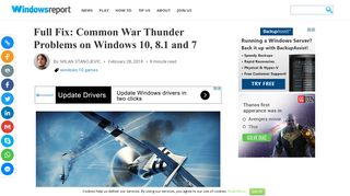 Full Fix: Common War Thunder Problems on Windows 10, 8.1 and 7