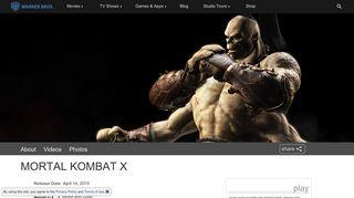 Mortal Kombat X - Warner Bros. - Games and Apps