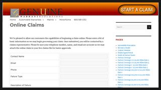 Online Claims – Genuine Warranty Solutions