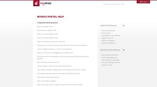 myWSU Portal Help - Washington State University