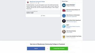 Waubonsee Community College - Facebook