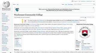 Waubonsee Community College - Wikipedia