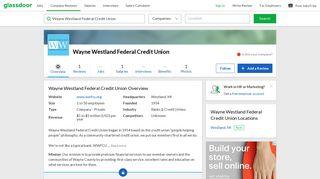 Working at Wayne Westland Federal Credit Union   Glassdoor