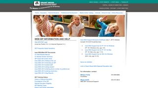 WEB IEP Information and Help - Grant Wood AEA