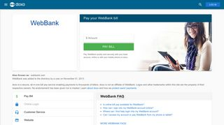 WebBank: Login, Bill Pay, Customer Service and Care Sign-In - Doxo