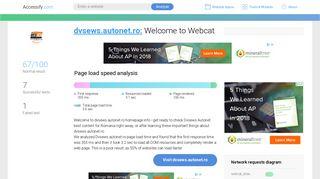 Access dvsews.autonet.ro. Welcome to Webcat