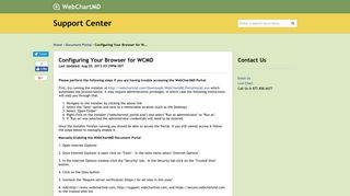 WCMD | Configuring Your Browser for WCMD - WCMD | Portal