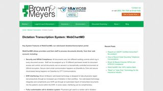 Key System Features of WebChartMD - Dictation System