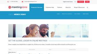 Webex Demo | MeetingZone