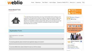 Home Based Tutor – weblioph