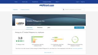 Working at Weblio Philippines Inc. company profile and information ...
