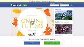 Weblio Philippines Inc - How to Apply in Weblio   Facebook