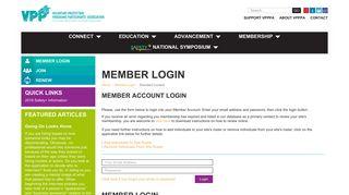 Member Login - vpppa