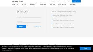Webmail Log in — Website.com