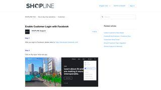 Enable Customer Login with Facebook – SHOPLINE FAQ