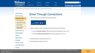 Email Through Connections | Webster University