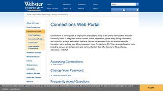 Connections Portal | Webster University
