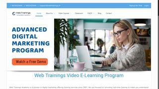 Online Video Training : Digital Marketing, SEO ... - WebTrainings.in