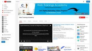 Web Trainings Academy - YouTube
