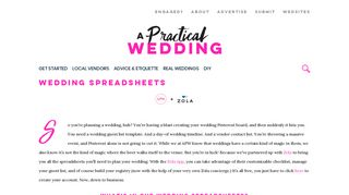 Customizable (And Free) Wedding Spreadsheets - A Practical Wedding