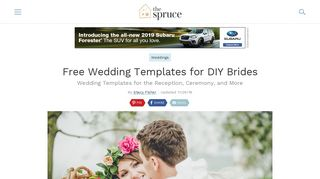 Free Wedding Templates for the DIY Bride - The Spruce