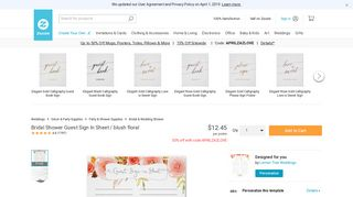 Bridal Shower Guest Sign In Sheet / blush floral | Zazzle.com
