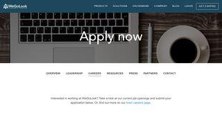 Apply now | WeGoLook