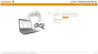 u-link > u-link login - Weidmüller