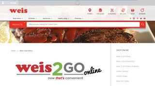 Weis 2 Go Online | Weis Markets