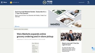 Weis Markets expands online grocery ordering and in-store pickup ...