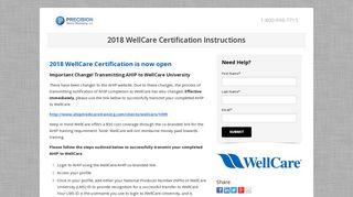 2018 WellCare Certification - Precision Senior Marketing
