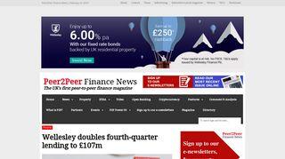 Wellesley doubles fourth-quarter lending to £107m | Peer2Peer ...