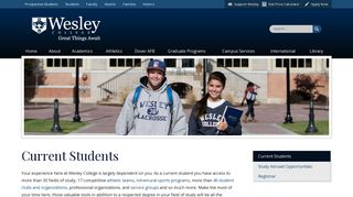 Current Students | Wesley College
