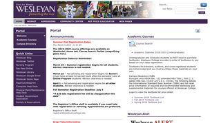 Welcome | Portal - Wesleyan College