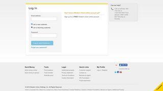 Log In - Register   Western Union