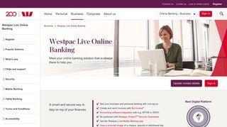 Westpac Live - Business Online Banking   Westpac