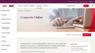 Corporate Online   Westpac
